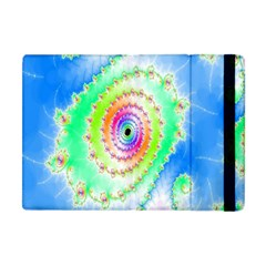 Decorative Fractal Spiral Apple Ipad Mini Flip Case by Simbadda