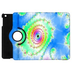 Decorative Fractal Spiral Apple Ipad Mini Flip 360 Case by Simbadda