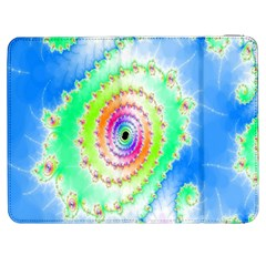 Decorative Fractal Spiral Samsung Galaxy Tab 7  P1000 Flip Case by Simbadda