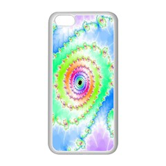 Decorative Fractal Spiral Apple Iphone 5c Seamless Case (white)