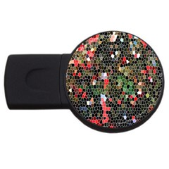 Colorful Abstract Background Usb Flash Drive Round (2 Gb) by Simbadda