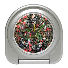 Colorful Abstract Background Travel Alarm Clocks by Simbadda