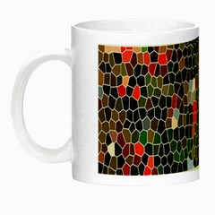 Colorful Abstract Background Night Luminous Mugs by Simbadda