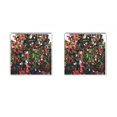 Colorful Abstract Background Cufflinks (square)