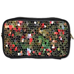 Colorful Abstract Background Toiletries Bags by Simbadda