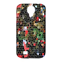 Colorful Abstract Background Samsung Galaxy S4 Classic Hardshell Case (pc+silicone)