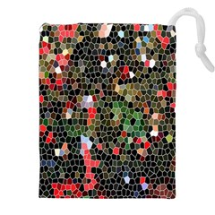 Colorful Abstract Background Drawstring Pouches (xxl) by Simbadda