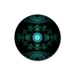 Grand Julian Fractal Rubber Coaster (round)  by Simbadda
