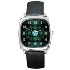 Grand Julian Fractal Square Metal Watch by Simbadda