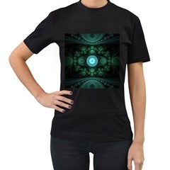 Grand Julian Fractal Women s T-shirt (black) (two Sided) by Simbadda
