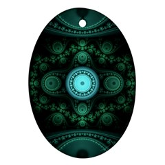 Grand Julian Fractal Oval Ornament (two Sides) by Simbadda