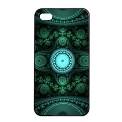 Grand Julian Fractal Apple Iphone 4/4s Seamless Case (black) by Simbadda