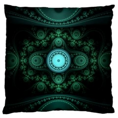 Grand Julian Fractal Large Flano Cushion Case (one Side) by Simbadda