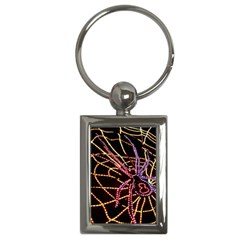 Black Widow Spider, Yellow Web Key Chains (rectangle)  by Simbadda