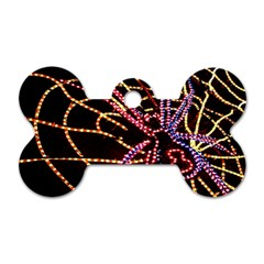 Black Widow Spider, Yellow Web Dog Tag Bone (one Side) by Simbadda