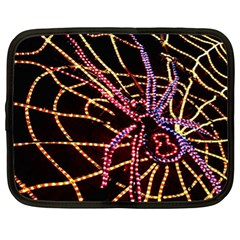 Black Widow Spider, Yellow Web Netbook Case (xl)  by Simbadda