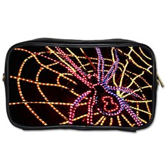 Black Widow Spider, Yellow Web Toiletries Bags 2 Side by Simbadda