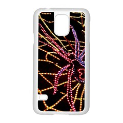 Black Widow Spider, Yellow Web Samsung Galaxy S5 Case (white) by Simbadda