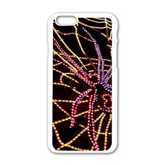 Black Widow Spider, Yellow Web Apple Iphone 6/6s White Enamel Case by Simbadda