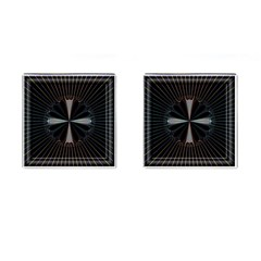 Fractal Rays Cufflinks (square)