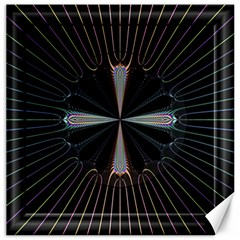Fractal Rays Canvas 20  X 20   by Simbadda