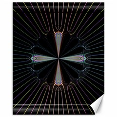 Fractal Rays Canvas 11  X 14   by Simbadda