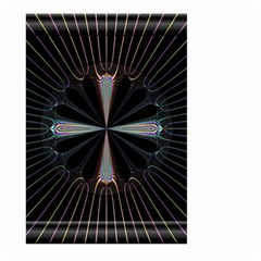 Fractal Rays Large Garden Flag (two Sides) by Simbadda