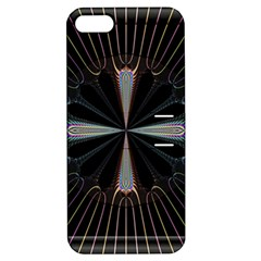 Fractal Rays Apple Iphone 5 Hardshell Case With Stand by Simbadda
