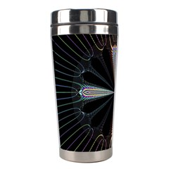 Fractal Rays Stainless Steel Travel Tumblers by Simbadda