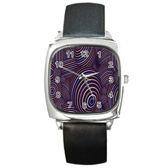 Abstract Colorful Spheres Square Metal Watch by Simbadda