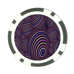 Abstract Colorful Spheres Poker Chip Card Guard (10 Pack)