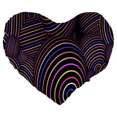 Abstract Colorful Spheres Large 19  Premium Heart Shape Cushions by Simbadda