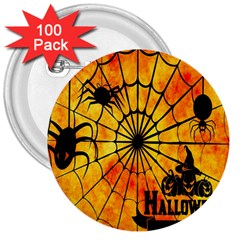 Halloween Weird  Surreal Atmosphere 3  Buttons (100 Pack)  by Simbadda