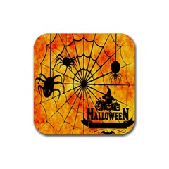 Halloween Weird  Surreal Atmosphere Rubber Square Coaster (4 Pack)  by Simbadda