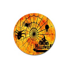 Halloween Weird  Surreal Atmosphere Magnet 3  (round) by Simbadda