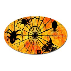 Halloween Weird  Surreal Atmosphere Oval Magnet