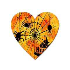 Halloween Weird  Surreal Atmosphere Heart Magnet by Simbadda