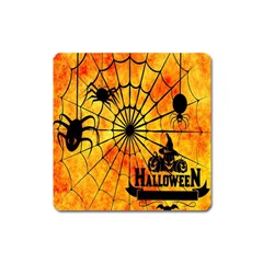 Halloween Weird  Surreal Atmosphere Square Magnet by Simbadda