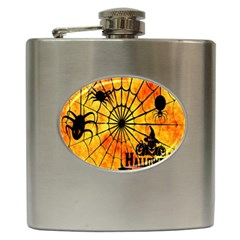 Halloween Weird  Surreal Atmosphere Hip Flask (6 Oz) by Simbadda