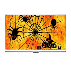 Halloween Weird  Surreal Atmosphere Business Card Holders by Simbadda
