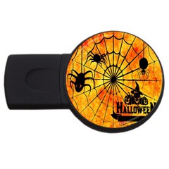Halloween Weird  Surreal Atmosphere Usb Flash Drive Round (4 Gb) by Simbadda