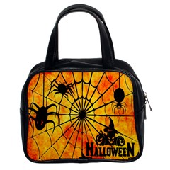 Halloween Weird  Surreal Atmosphere Classic Handbags (2 Sides) by Simbadda