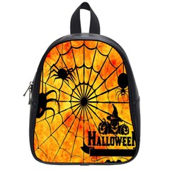 Halloween Weird  Surreal Atmosphere School Bags (small)  by Simbadda