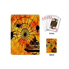 Halloween Weird  Surreal Atmosphere Playing Cards (mini)  by Simbadda