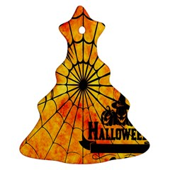 Halloween Weird  Surreal Atmosphere Christmas Tree Ornament (two Sides) by Simbadda