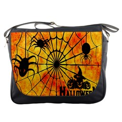 Halloween Weird  Surreal Atmosphere Messenger Bags by Simbadda