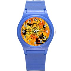 Halloween Weird  Surreal Atmosphere Round Plastic Sport Watch (s)