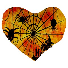 Halloween Weird  Surreal Atmosphere Large 19  Premium Heart Shape Cushions by Simbadda