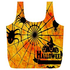 Halloween Weird  Surreal Atmosphere Full Print Recycle Bags (l)  by Simbadda