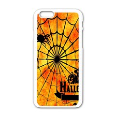 Halloween Weird  Surreal Atmosphere Apple Iphone 6/6s White Enamel Case by Simbadda